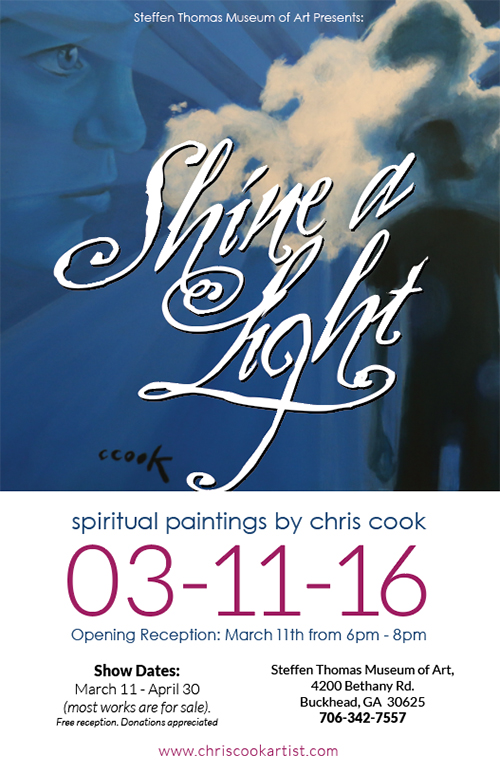 Shine A Light Art Exhibit. Spiritual Paintings