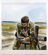 vietnam war art paintings-downtime