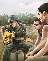 vietnam war paintings-music