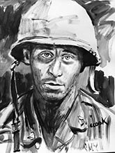 vietnam war paintings-soldiers