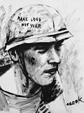georgia artists vietnam war paintings- love not war