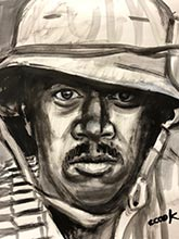 vietnam war paintings-african-american