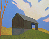 barn in landscape